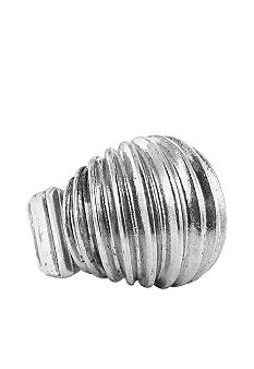 Erica Lyons Silver Ribbed Ring