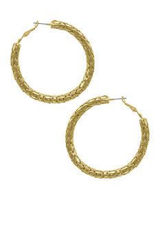 Erica Lyons Gold-Tone Hoop Earring