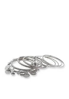 Erica Lyons Silver-Tone Thin Metal Bangle Set