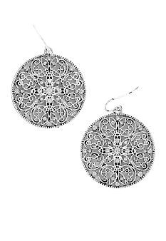 Erica Lyons Filigree Disc Earring