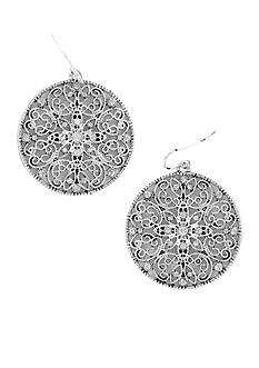 Erica Lyons Filigree Disc Earrings