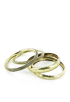 Erica Lyons Gold Bangle Set