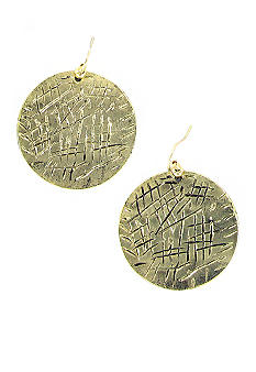 Erica Lyons Gold Disc Earrings