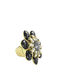 Erica Lyons Jet Flower Ring