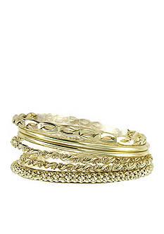 Erica Lyons Golden Globe Bracelet Set