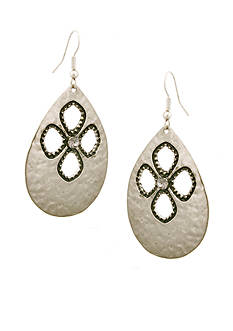 Erica Lyons Silver-Tone Pierced Earrings