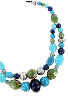 Erica Lyons Bermuda Blue Necklace