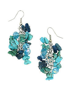 Erica Lyons Bermuda Blue Pierced Earrings