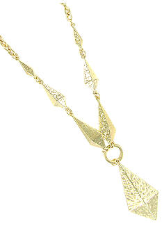 Erica Lyons Gold Metal Works Necklace