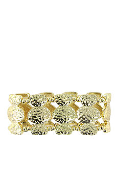 Erica Lyons Gold Metal Works Bracelet