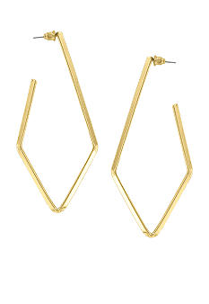 Erica Lyons Gold Metal Works Earrings