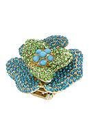 Erica Lyons Blue and Green Flower Ring
