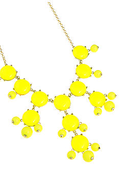 Erica Lyons Lemoncello Yellow Crush Necklace