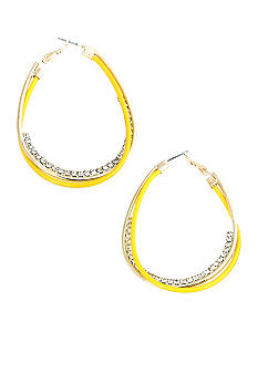 Erica Lyons Lemoncello Hoop Earrings