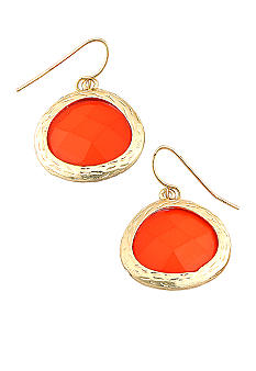 Erica Lyons Lemoncello Orange Crush Pierced Earrings