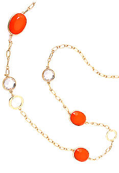 Erica Lyons Lemoncello Orange Crush Necklace