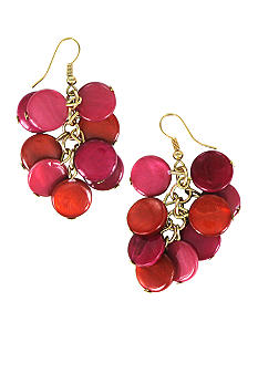 Erica Lyons Color Block Shell Earrings