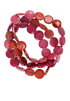 Erica Lyons Color Block Shell Bracelet