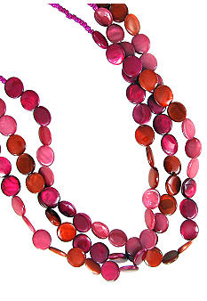 Erica Lyons Color Block Shell Necklace