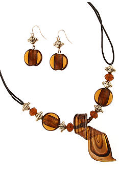 Erica Lyons Necklace and Pierced Earrings Set
