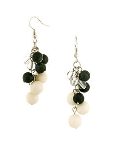 Erica Lyons Tuxedo Earrings