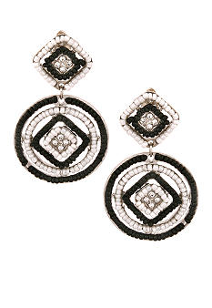 Erica Lyons Tuxedo Clip Earrings