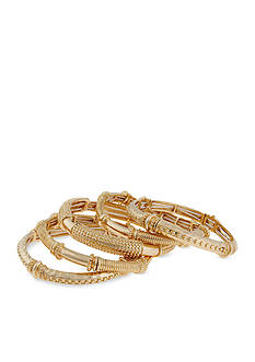 Erica Lyons Gold-Tone Bangle Bracelets