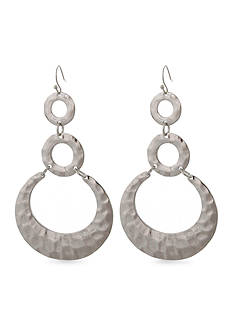 Erica Lyons Silver-Tone Medalist Earrings