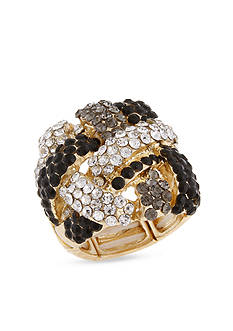 Erica Lyons Crystal Crossover Stretch Ring