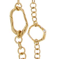 Jewelry & Watches: Erica Lyons Fashion Jewelry: Gold Erica Lyons Melt Silver Long Double Chain Necklace