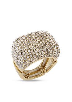 Erica Lyons Gold-Tone Crystal Stretch Ring