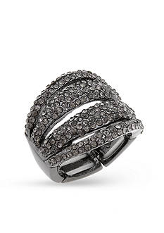 Erica Lyons Hematite-Tone Metal Stretch Ring