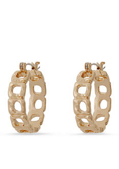 Erica Lyons Trifecta of Squares Hoop Earrings
