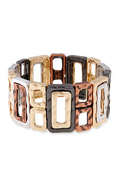Erica Lyons Trifecta Open Squares and Rectangles Stretch Bracelet