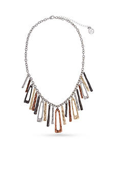 Erica Lyons Trifecta Linear Fringe Statement Necklace