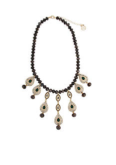 Erica Lyons Under the Mistletoe Teardrop Fringe Front Necklace