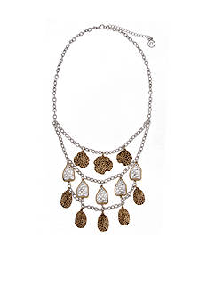 Erica Lyons Silver-Tone Cut It Out Triple Layered Necklace