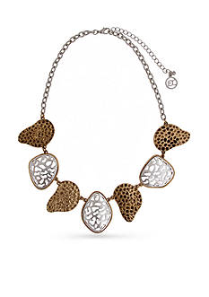 Erica Lyons Silver-Tone Cut It Out Organic Collar Necklace