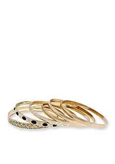 Erica Lyons Gold-Tone Queen of De Nile 6-Piece Bangle Bracelet Set