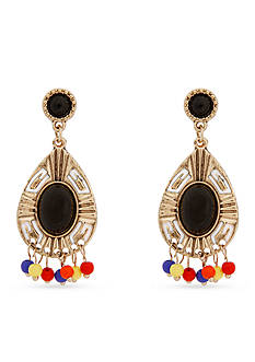 Erica Lyons Gold-Tone Queen of De Nile Teardrop Earrings