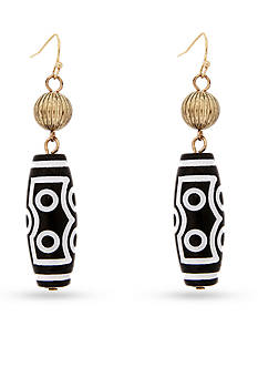 Erica Lyons Gold-Tone Queen of De Nile Barrel Drop Earrings