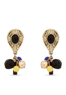 Erica Lyons Gold-Tone Queen of De Nile Clip Earrings