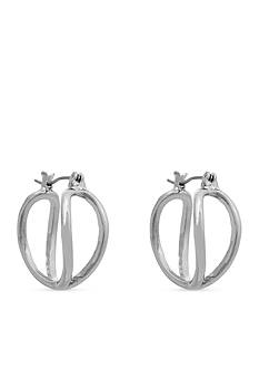 Erica Lyons Essential Small Double Helix Hoop Earrings