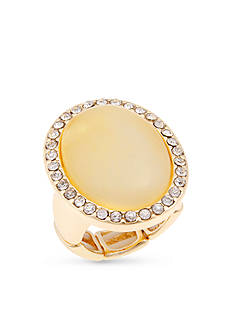 Erica Lyons Gold-Tone Oval Fashion Stretch Ring