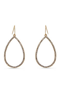 Erica Lyons Essential Crystal Ring Teardrop Earrings