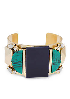 Erica Lyons Gold-Tone In The Midnight Hour Wide Cuff Bracelet