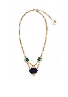 Erica Lyons Gold-Tone In The Midnight Hour Short Pendant Necklace