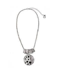 Erica Lyons Silver-Tone Animal House Short Pendant Necklace