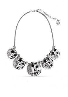 Erica Lyons Silver-Tone Animal House 5 Circle Collar Necklace