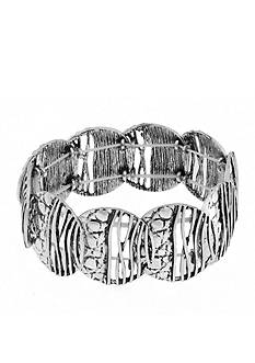 Erica Lyons Silver-Tone Animal House Stretch Bracelet
